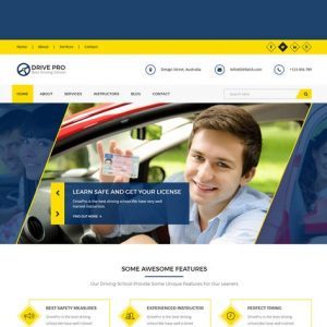 Drive Pro : Driving School HTML Template