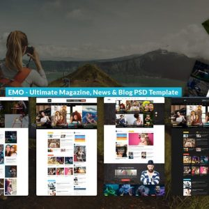 EMO - Ultimate Magazine, News & Blog PSD Template