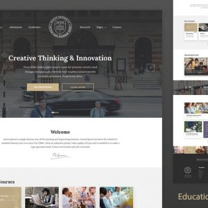 Education Resposnive Website Template — Unisco