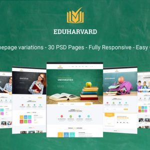 Eduharvard - Multiconcept Education & Courses PSD