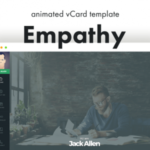 Empathy - Animated vCard Template