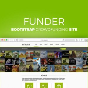 FUNDER - Bootstrap Crowdfunding Site
