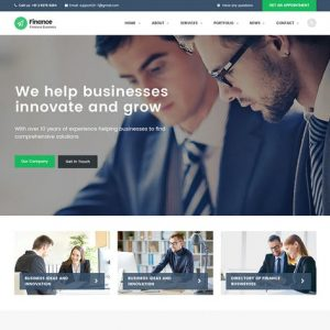Finance - Consulting, Accounting HTML Template