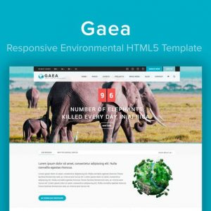 GAEA - Responsive Environmental HTML5 Template