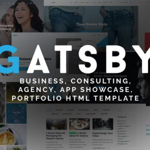 Gatsby - Business, Consulting HTML Template