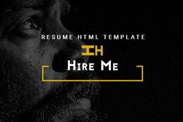 Hire Me - Personal vCard, Portfolio HTML Theme