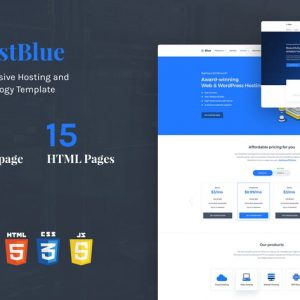 HostBlue - Hosting & Technology HTML Template
