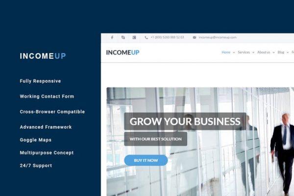 IncomeUp – Multi-purpose Business HTML Template