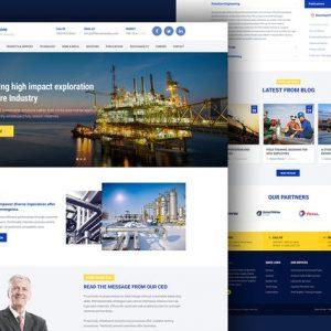 Industrial Business Website Template — Offshore