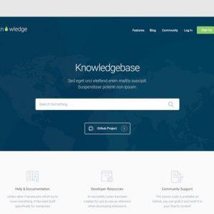 Knowledge - Knowledgebase & Documentation HTMl Tem