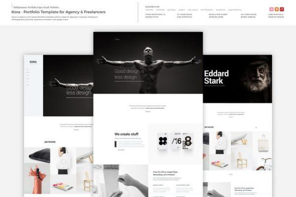 Kora - Portfolio Template for Agency & Freelancers