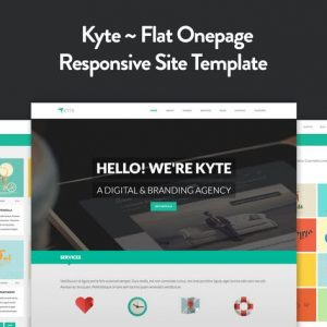 Kyte - Flat Onepage Responsive HTML5 Template
