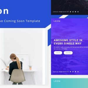 Leon - Responsive Coming Soon Template