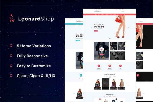 LeonardShop - E-Commerce and Blog PSD Theme