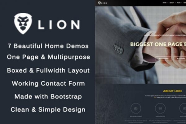 Lion - One Page & Multipurpose HTML Theme