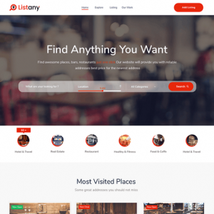 Listany - Directory and Listings PSD Template