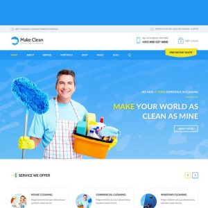 Make Clean - Cleaning Company HTML Template