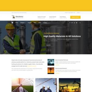 Manufactory: Multi-Industrial HTML Template