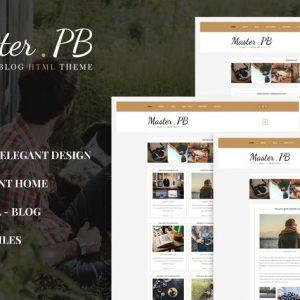 Master PB - Personal Blog HTML Template