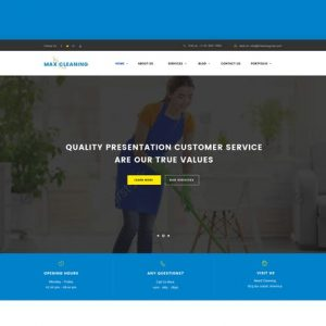 Max Clean - Cleaning Business HTML Template