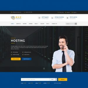 Max Hosting - Responsive Hosting HTML Template