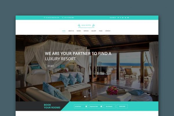 Max Hotel - Hotel Booking HTML Template