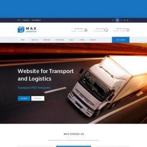 Max Logistics - Transport & Logistics HTML Templat