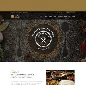Max Restaurant - Responsive HTML Template