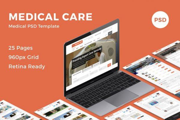 Medical Care - Medical PSD Template