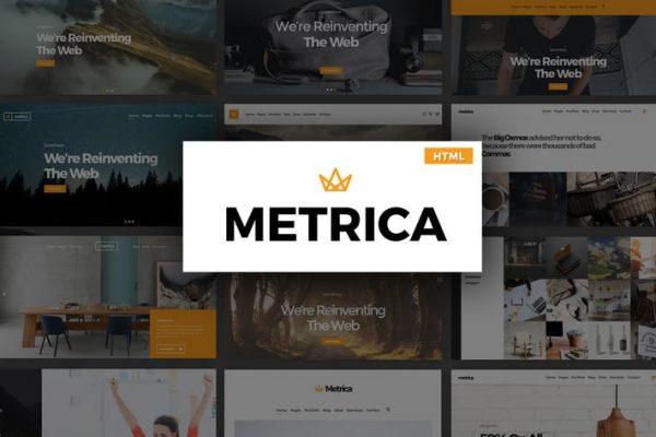 Metrica - Multipurpose HTML Template