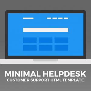 Minimal Helpdesk | Customer Support HTML Template
