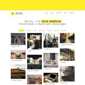 Mitro - Minimal HTML Template