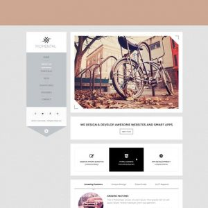 Momental - Vertical Menu HTML5 Template