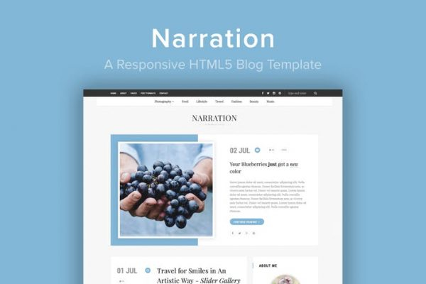 Narration - A Responsive HTML5 Blog Template
