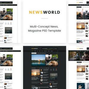News World | News Magazine PSD Template