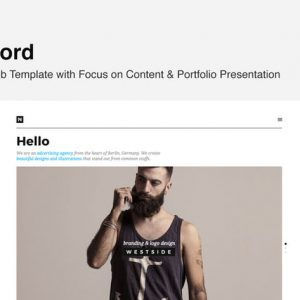 Nord - Template with Focus on Content & Portfolio