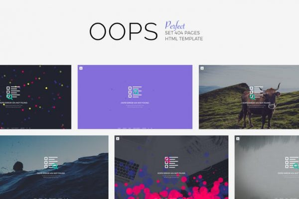 OOPS - Perfect 404 Pages Pack