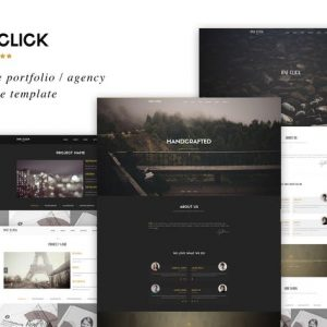 One Click - Parallax One Page HTML Template