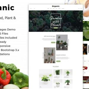 Organic - Plant, Flower & Food HTML5 Template