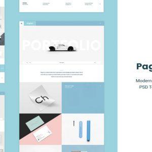 Pagina | Creative Portfolio PSD Template