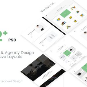 Poseidon   Creative Portfolio - Agency PSD Templat