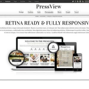 PressView Vintage and Stylish Magazine Template