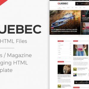 Quebec - News, Magazine & Blogging HTML Template