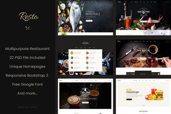 Resto | Multipurpose Restaurant & Cafe PSD Templat
