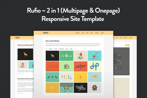 Rufio - 2 in 1 Responsive HTML5 Template