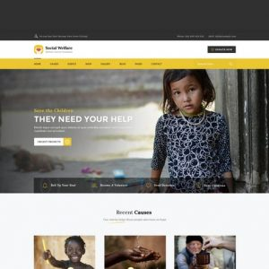 Social Welfare: Charity & Non-Profit HTML Template