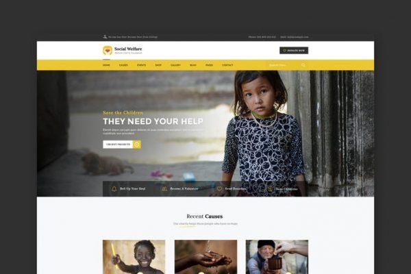 Social Welfare: Charity & Non-Profit HTML Template
