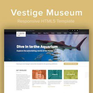 Vestige Museum - Responsive HTML5 Template