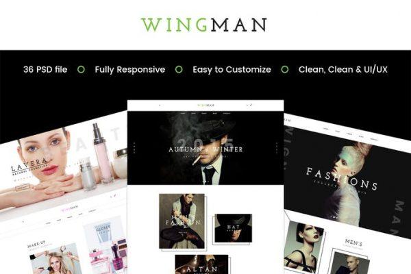 WINGMAN - E-Commerce and Blog PSD Theme
