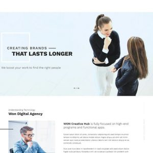 WON - Clean Multipurpose HTML